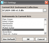 DMPlayer DLS Selection