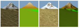 Terrain surface visualization modes